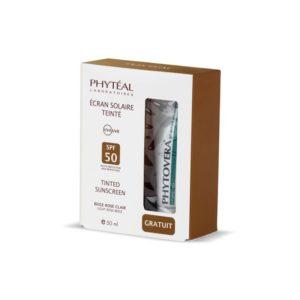 PHYTEAL ECRAN TEINTE BEIGE ROSE SPF 50 50 ml + PHYTOVERA GRATUITE